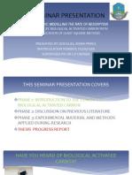 A Seminar Presentation on bio-activated carbon