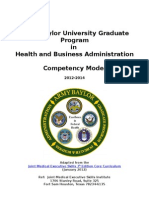 army-baylor mha competency model aligned with jmes