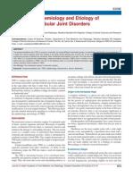 Evolution ,Epidemi and Etio of TMJ D. JP