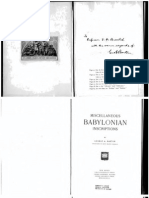 Miscellaneous Babylonian Inscriptions- 5*
