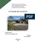Aspecte Ale Scurgerii Maxime În Bazinul Hidrografic Bega
