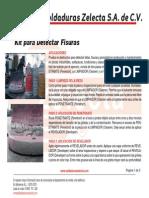Kit Para Detectar Fisuras