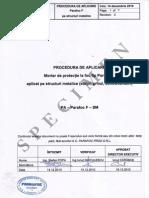 Procedura de Aplicare Pe Structura Metalica-specimen