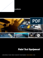 Dust Test Data Sheet
