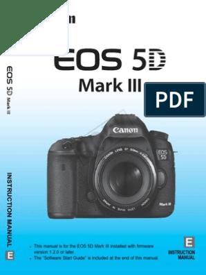 Canon EOS 5D Digital Camera User Instruction Guide  Manual