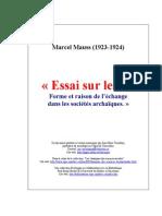 Marcel MAUSS Essai Sur Le Don