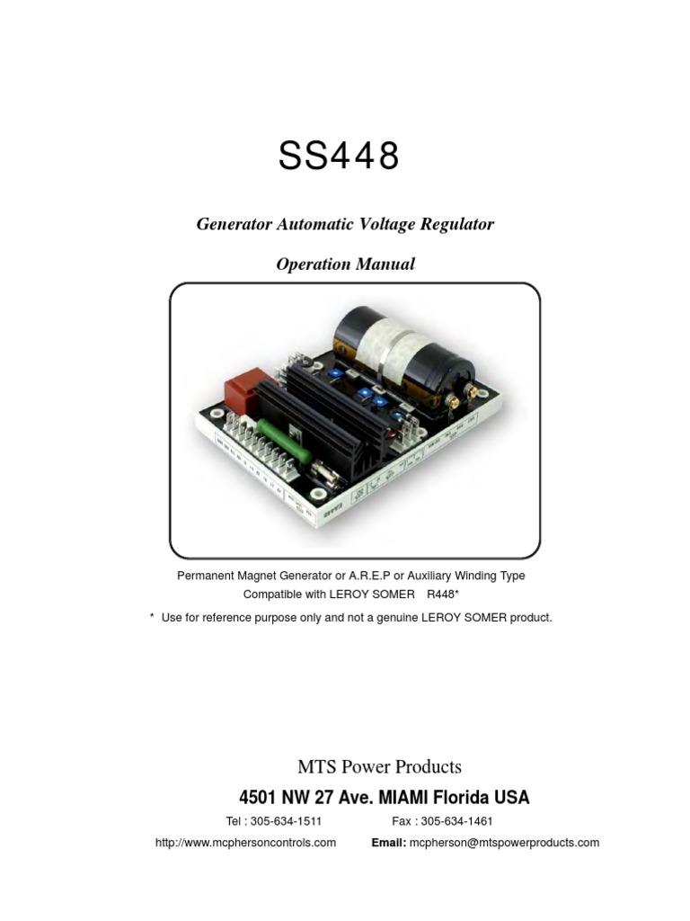Ea448 Mains Electricity Voltage Sr7 Regulator Wiring Diagram