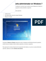 Eliminar Contraseña Administrador en Windows 7