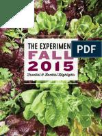 The Experiment Fall 2015 Catalog