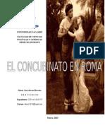 El Concubinato en Roma