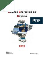 Balance Energetic o Navarra 2013
