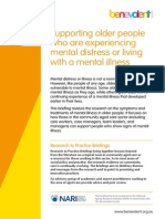 Supporting Older People Who Are Experiencing Mental Distress or Living With a Menal Illness (Not Journal Just Description)