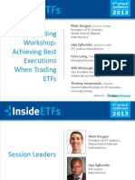 Live ETF Trading Workshop Achieving Best Executions When Trading ETFs