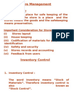Store Management & Inventory Control - Prof. Ganguly