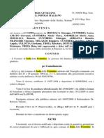 Cimitero Abusivi Ricorrono Al Tar 1994contro Delibera Adozione Nuovo Prg 36 1994 e Delibere 2 e 3 1994