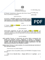 Cataldo Laura e Giorolama Tar Presentato Ricorso 634 2000 Sentenza 15032002 Acquisizione Terreno via Favarotta