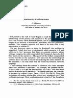 Response to Rendtorff