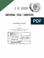 Jose Manuel Estrada - Curso de Derecho Constitucional