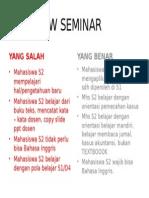 Overview Seminar