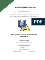 Marco Jurídico Actual de Los Documentos Electrónicos