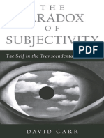 Carr Paradox of Subjectivity