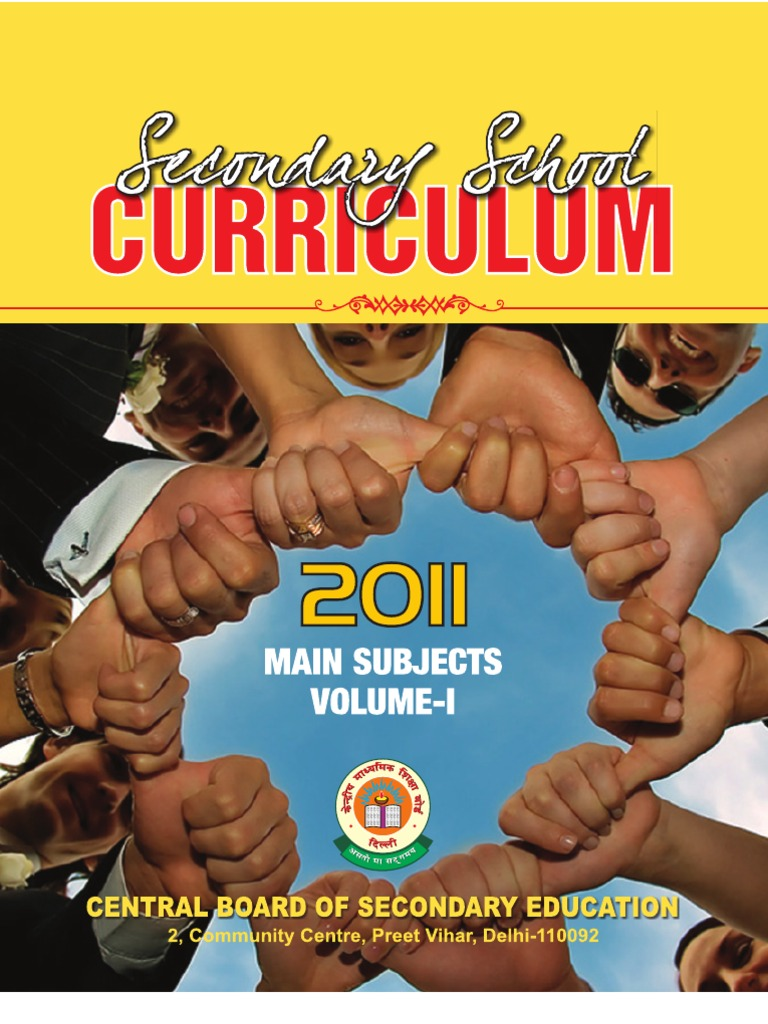 Secondary School Curriculum 2011 | University And College Admission | Test  (Assessment)
