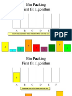 Bin Packing - First Fit Algorithm
