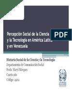Percepción Social de La Ciencia y La Tecnología