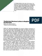 Business Letters Its Origin
