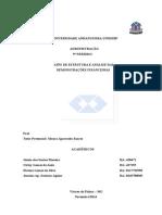 Atps de Estrutura e Análise Das Demonstrações Financeiras