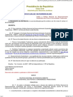 Decreto 6040 Povos e Comunidades Tradicionais
