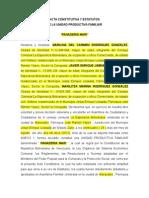 Acta Consitutiva Estatutaria UPF Panaderia