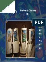 Temple Shalom Membership Directory 2015