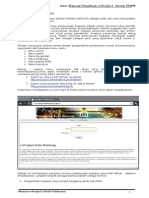 User Manual EProject Bontang