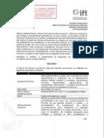 AI/DC 001 2014 del IFT