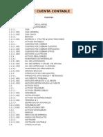 Ejemplo de Catalogo de Cuentas