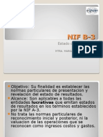 Nif b3 Estado de Resultados
