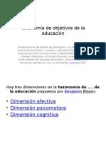 Taxonomía de Objetivos de La Educación