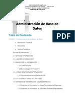 Administracion de Base de Datos  1 Unidad 1 2015