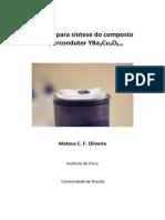 Manual para síntese do composto supercondutor YBCO