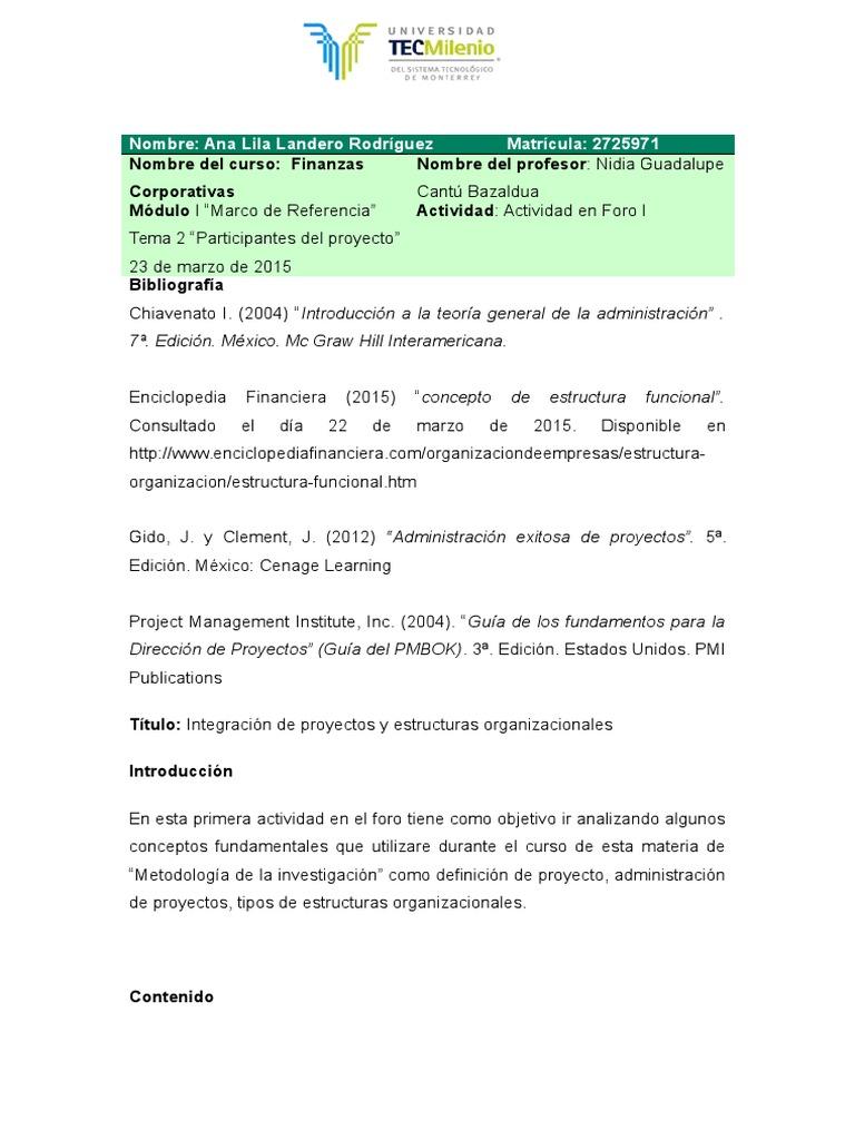 Actividad En Foro 1 Matriz Matemáticas Negocios General
