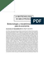 Biotecnología y Mecatrónica