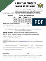 slugger mini-camp flyer- revised 2014 (1)