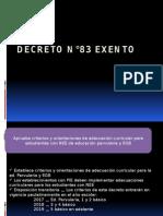 Decreto n°83 exento