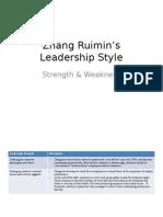 Zhang Ruimin's Leadership Style