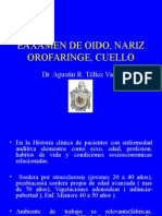 Clase Orl Dr. Agustin Tellez