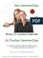 Teachers Interview Edge