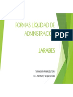 4. Formas Liquidas de Administración. Jarabes