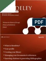 Mendeley Teaching Presentation