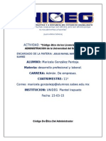 Código Ético de Los Licenciados en ADMINISTRACION de La Universidad Del SABES